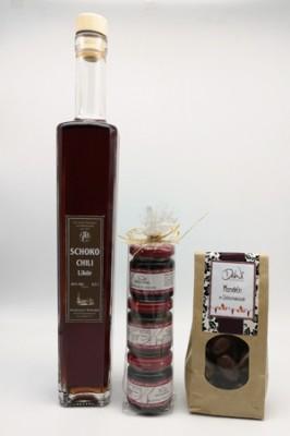 Intensive Schokolade mit Chilinote - Geschenksortiment 3